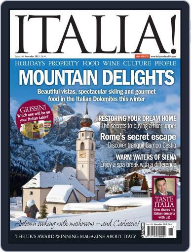 Italia October 16th, 2013 Digital Back Issue Cover