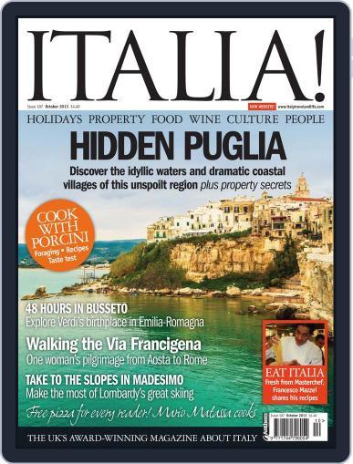 Italia (Digital) October 7th, 2013 Issue Cover