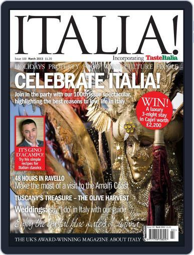 Italia February 20th, 2013 Digital Back Issue Cover