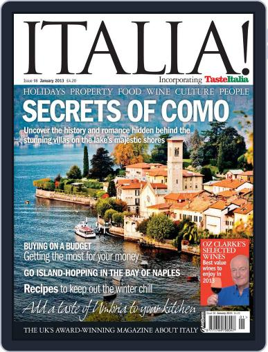 Italia (Digital) January 9th, 2013 Issue Cover