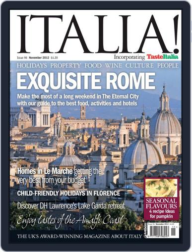 Italia (Digital) October 2nd, 2012 Issue Cover