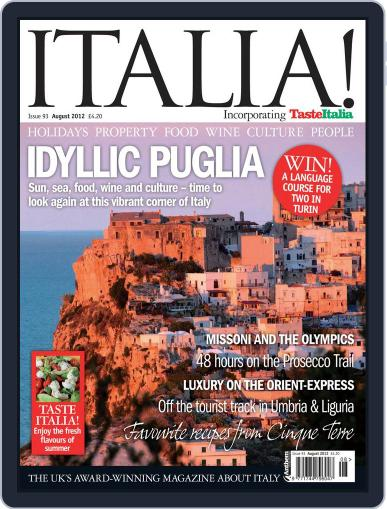 Italia July 13th, 2012 Digital Back Issue Cover