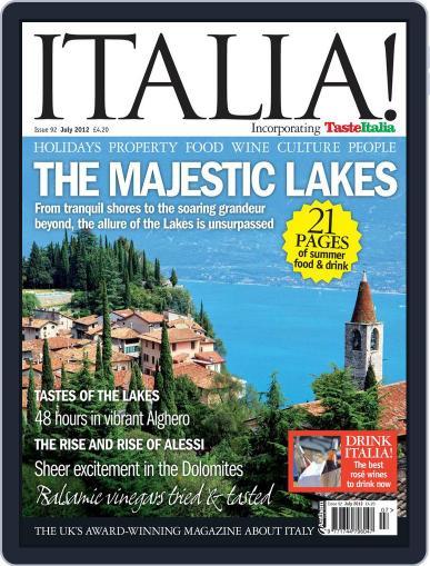 Italia (Digital) June 11th, 2012 Issue Cover