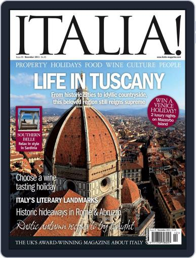 Italia November 9th, 2011 Digital Back Issue Cover