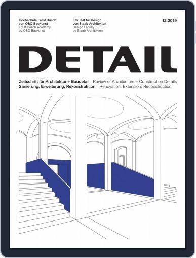 Detail (Digital) December 1st, 2019 Issue Cover