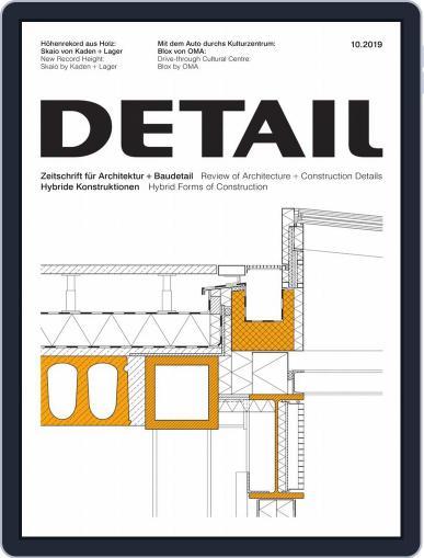 Detail October 1st, 2019 Digital Back Issue Cover