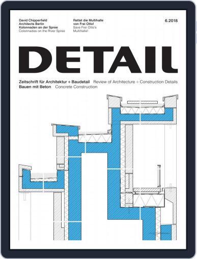 Detail (Digital) June 1st, 2018 Issue Cover