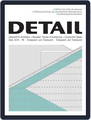 Detail November 15th, 2016 Digital Back Issue Cover