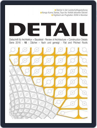 Detail September 29th, 2016 Digital Back Issue Cover