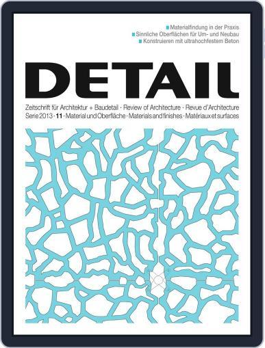 Detail October 31st, 2013 Digital Back Issue Cover