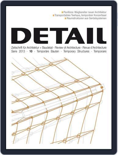Detail September 30th, 2013 Digital Back Issue Cover