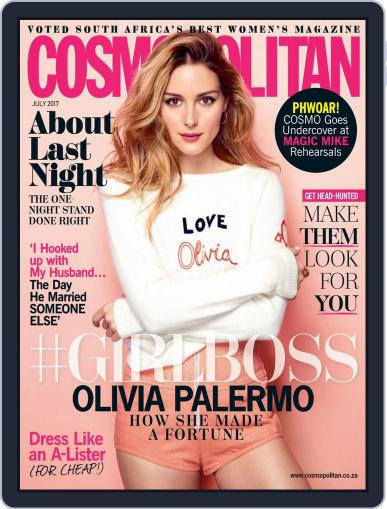 Cosmopolitan South Africa (Digital) July 1st, 2017 Issue Cover