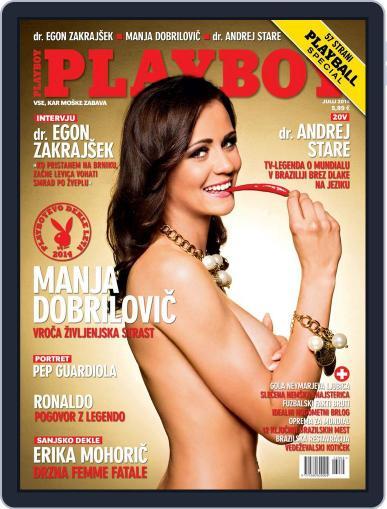 Playboy Slovenija July 1st, 2014 Digital Back Issue Cover
