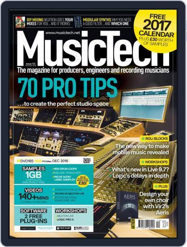 Music Tech December 1st, 2016 Digital Back Issue Cover
