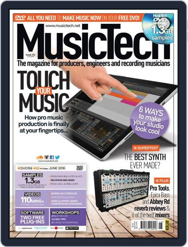 Music Tech May 19th, 2016 Digital Back Issue Cover