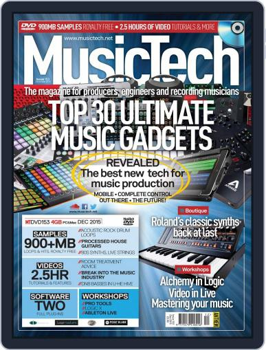Music Tech December 1st, 2015 Digital Back Issue Cover