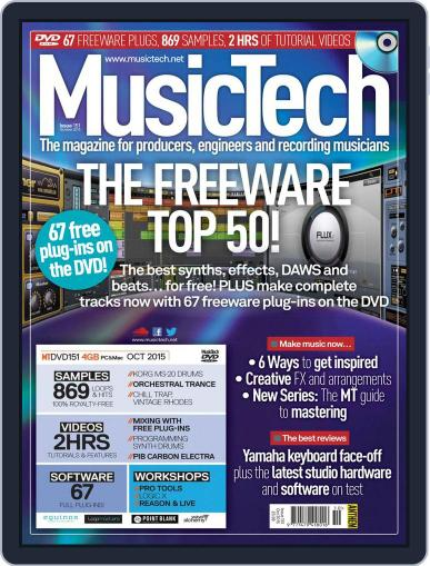 Music Tech (Digital) October 1st, 2015 Issue Cover