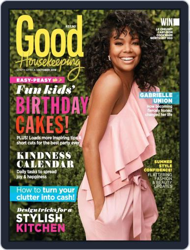 Good Housekeeping South Africa (Digital) October 1st, 2018 Issue Cover
