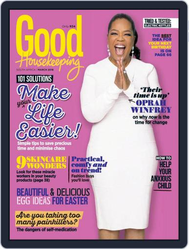 Good Housekeeping South Africa (Digital) March 1st, 2018 Issue Cover