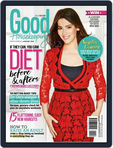 Good Housekeeping South Africa (Digital) January 1st, 2016 Issue Cover