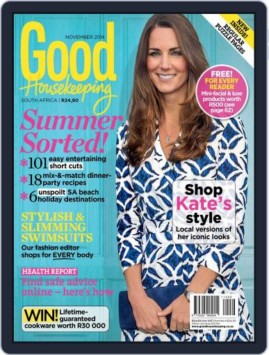 Good Housekeeping South Africa (Digital) October 19th, 2014 Issue Cover
