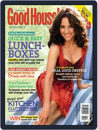 Good Housekeeping South Africa February 16th, 2014 Digital Back Issue Cover
