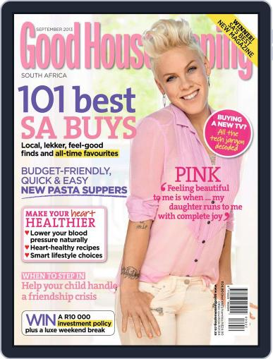 Good Housekeeping South Africa August 18th, 2013 Digital Back Issue Cover