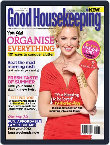 Good Housekeeping South Africa (Digital) January 1st, 2012 Issue Cover
