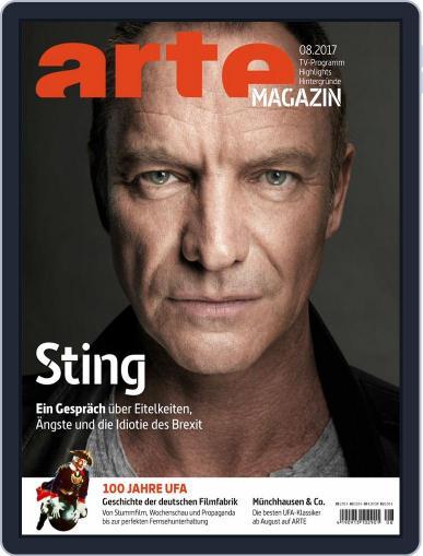 Arte Magazin August 1st, 2017 Digital Back Issue Cover