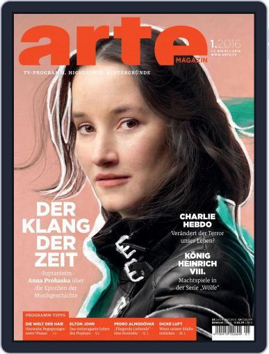 Arte Magazin (Digital) December 31st, 2015 Issue Cover