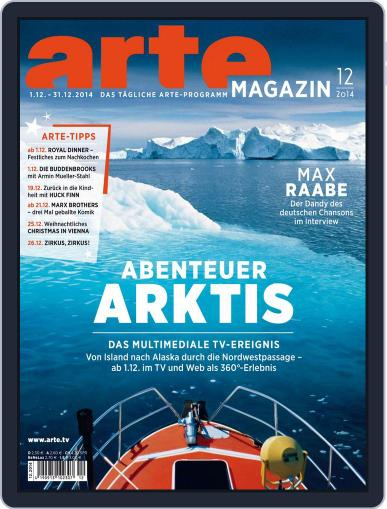 Arte Magazin (Digital) November 17th, 2014 Issue Cover
