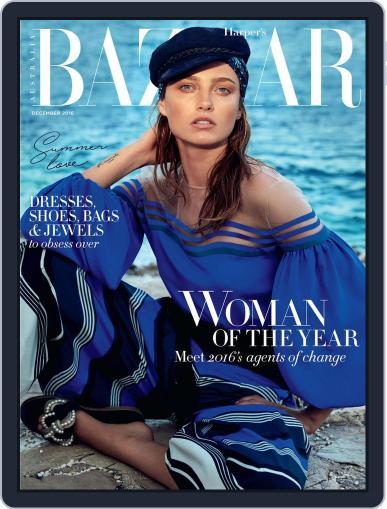 Harper's Bazaar Australia December 1st, 2016 Digital Back Issue Cover