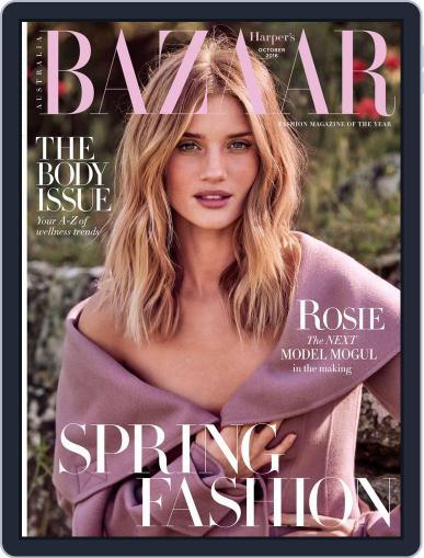 Harper's Bazaar Australia (Digital) October 1st, 2016 Issue Cover