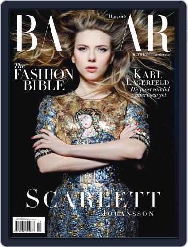 Harper's Bazaar Australia August 4th, 2013 Digital Back Issue Cover