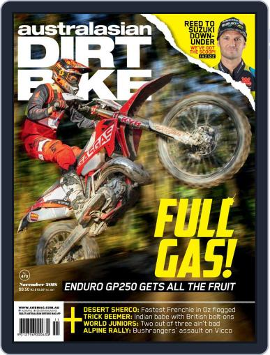 Australasian Dirt Bike November 1st, 2018 Digital Back Issue Cover