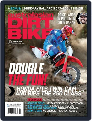 Australasian Dirt Bike March 1st, 2018 Digital Back Issue Cover