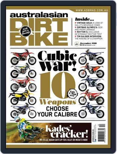 Australasian Dirt Bike (Digital) December 1st, 2016 Issue Cover
