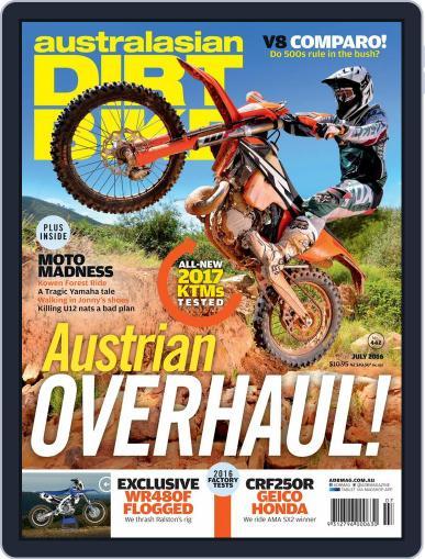 Australasian Dirt Bike June 6th, 2016 Digital Back Issue Cover
