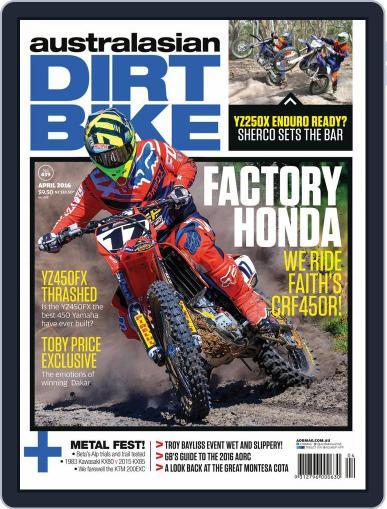 Australasian Dirt Bike March 7th, 2016 Digital Back Issue Cover