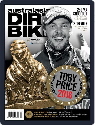 Australasian Dirt Bike (Digital) February 1st, 2016 Issue Cover