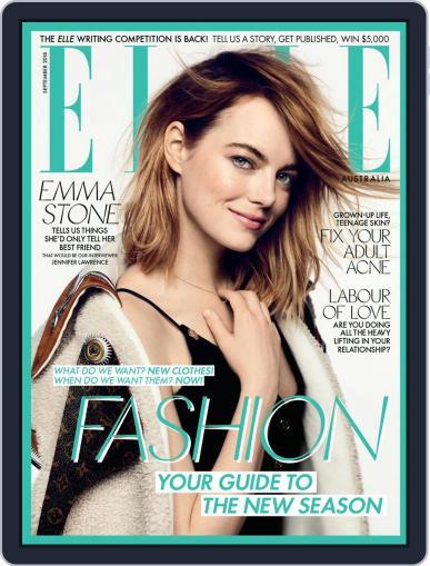 ELLE Australia September 1st, 2018 Digital Back Issue Cover