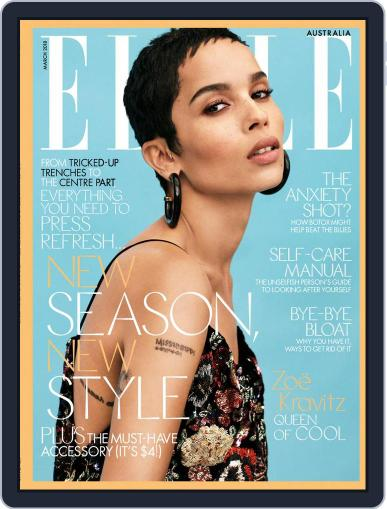 ELLE Australia March 1st, 2018 Digital Back Issue Cover