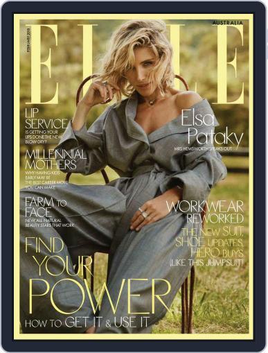 ELLE Australia February 1st, 2018 Digital Back Issue Cover