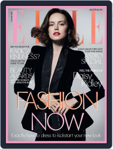 ELLE Australia January 1st, 2018 Digital Back Issue Cover
