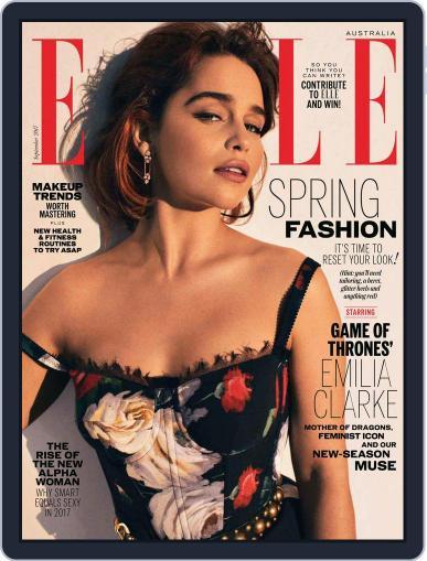 ELLE Australia September 1st, 2017 Digital Back Issue Cover