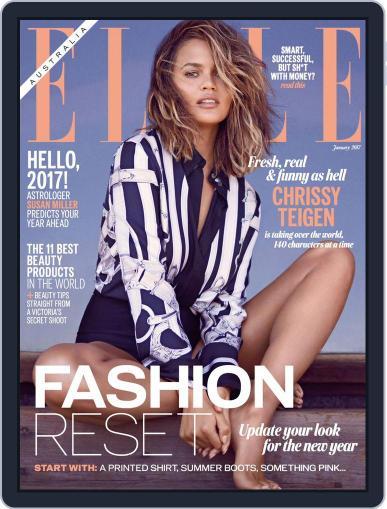 ELLE Australia January 1st, 2017 Digital Back Issue Cover