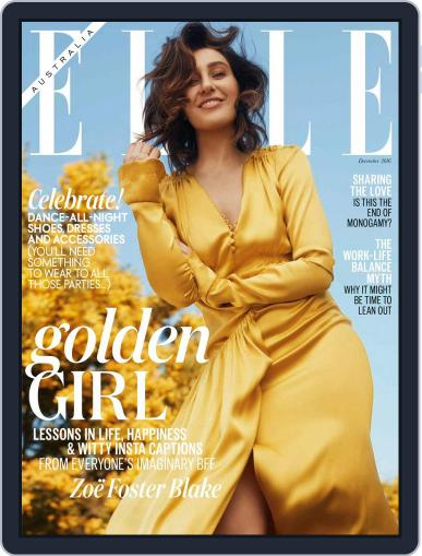 ELLE Australia (Digital) December 1st, 2016 Issue Cover