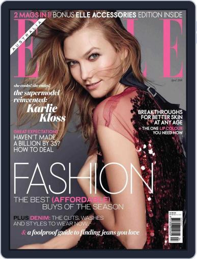 ELLE Australia (Digital) March 27th, 2016 Issue Cover