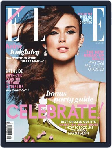 ELLE Australia (Digital) November 25th, 2015 Issue Cover