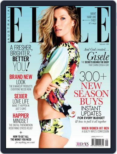 ELLE Australia (Digital) August 26th, 2014 Issue Cover